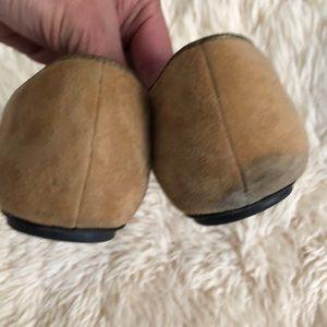 Tesori Shoes - Suede zipper bow camel pointed toe flats Tesori 11